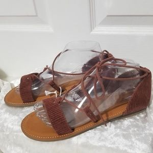 American Eagle Outfitters Brown Suede Sandals